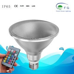 Водонепроницаемый RGB Alu+стекло светодиодные лампы освещения сада PAR38 18Вт E26/E27