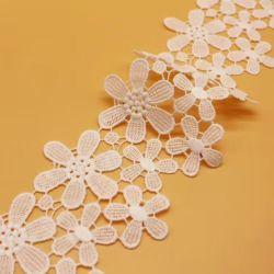 El algodón de alta calidad de encaje bordado Soluble en agua de la prenda de vestir