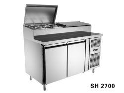 Подготовка коммерческих холодильник счетчик для салата, пиццу и Южными Сандвичевыми