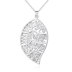 أزياء النساء Hollow ورقة مجوهرات قلادة ورقة قطع الدلاية عقد مجوهرات أزياء إكسسوارات أزياء مجوهرات هدية