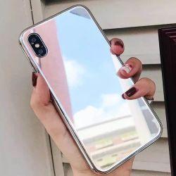 закаленное стекло Electroplated телефон чехол для iPhone Xs