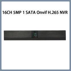 La vigilancia 16CH 1 de la seguridad de disco duro de 5MP 265 NVR CCTV HD H.