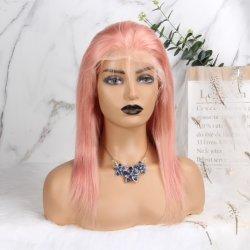 100% de cabelo humano Perucas para mulheres negras 1B/27 Ombre Curto Encaracolado Remy brasileira de cabelo humano pleno peruca com franjas cabelo afro ondulado