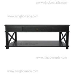 Meubles de style américain concis antique Villa blanc/noir/brun/naturelles seul tiroir table à café
