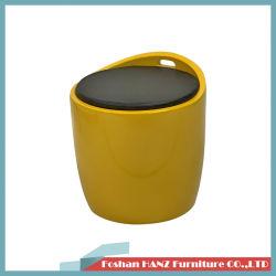 Sgabello semplice moderno della plastica di colore giallo di ricezione del salone