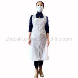 Tablier de protection personnelle de gros de l'hôpital de nettoyage biodégradables Tablier LDPE jetable PE PLA Amidon de maïs Pbat Tablier Tablier en plastique
