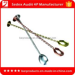 Vario cucchiaio su ordinazione del mescolatore del metallo dell'acciaio inossidabile di colori per la barra