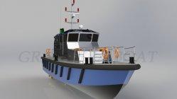 中国 66FT 20m 深型鋼船体低速パトロールボート 販売のため