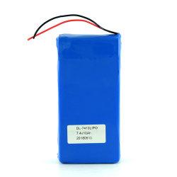 حزمة بطارية Lipo 2s1p Lithium Li Ion Polymer قابلة لإعادة الشحن 7.4 فولت 10 أمبير