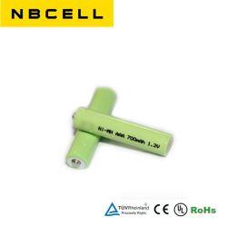 Batterijen van het Hydride van het Metaal van het Nikkel van de Batterij Ni-MH 1.2V 700mAh van de AMERIKAANSE CLUB VAN AUTOMOBILISTEN van NiMH de Navulbare