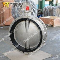 Monel 400 K500 de aleación de Hastelloy Monel20 Lcb Lcc Lca S32750 S32550 Metalizado Hypalon Neopreno asiento vacío de tubería de carga de 24 pulgadas las válvulas de mariposa de fábrica del fabricante
