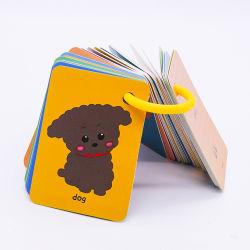 Kp Costom grossista Flashcards Interativo Animal ensinando Inglês arte Contagem de cartões Flash Alimentar para adultos