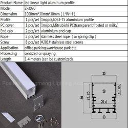 30mmhigh 질 알루미늄 단면도 제조자 LED 지구 둥근 단면도