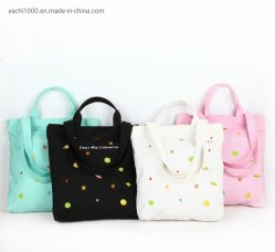 Custom хлопок Canvas сувениры Промо сумки Lady женская сумка