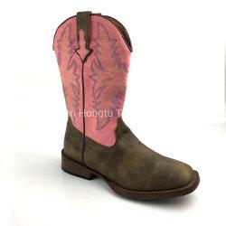 Antiek Zadel/de Blauwe Westelijke Laarzen van de Cowboy van Dames