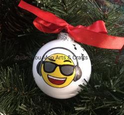 Персональные музыкальные орнамент - любишь музыку орнамент - вручную стекла Рождество шарик - сердце с наушниками