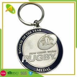 Argent avec émail personnalisé le sablage au jet New South Wales Médaille trousseau de clés en métal (167)