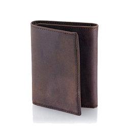 Pli en portefeuille en cuir pour hommes avec le titulaire de carte Fenêtre Photo