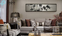 ガラスは描くタケ(MR-YB6-2035)が付いている壁の装飾のためのガラス絵画を