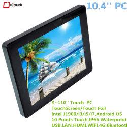 10,4 pulgadas de pantalla LCD TFT incorporado Openframe capacitivo de señalización de la pantalla táctil de 10 puntos Tablet monitor del ordenador portátil PC