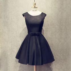 シンプルな設計のBow-Knotの装飾の卸売のイブニング・ドレス