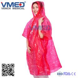 Одноразовые Колпачковая Rainwear Poncho водонепроницаемый PE легкий дождь Poncho