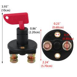 LKW-Boots-Autobatterie-Trennungs-Schalter-Energien-Isolierscheibe abgeschnittener Abbruchs-Schalter + 2 entfernbare Schlüssel für Marinefahrzeug-Auto des automobil-ATV