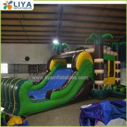 A Palm Bounce House Jumper inflável com lâmina longa