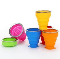 Для использования вне помещений портативный съемные чашки воды многофункциональный творческие кружки воды силиконового герметика складывания наружного кольца подшипника с пластмассовой крышки багажника
