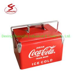 Mini casella portatile della cassa del dispositivo di raffreddamento del metallo di capienza dei dispositivi di raffreddamento 7L per alimento e Bevanda-Colore