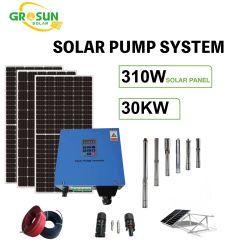 30kw pompe solaire Système avec Mono/Poly des panneaux solaires pour la maison&Projet d'irrigation des terres agricoles