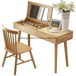 A madeira maciça Penteadeira Dressting Natureza Cadeira de mobiliário em madeira maciça Quarto de hotel Penteadeira Definir Quarto Dresser