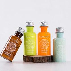 Pet botella cilíndrica de 40ml Tapa de plata Set de Regalo SPA champú y gel de ducha/Body Lotion/enjuague bucal