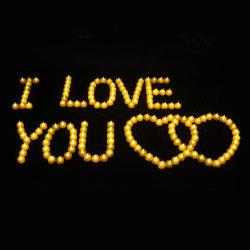 Candele senza fiamma tremule della candela del regalo LED dei biglietti di S. Valentino