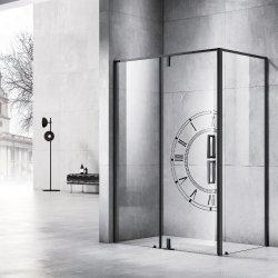 Fácil de limpar revestidos de vidro temperado latão maciço chuveiro de dobradiça de porta de vidro temperado de Banho Privada