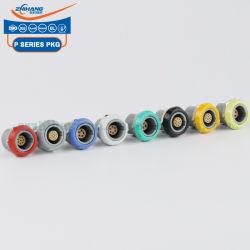 Pkg 1p 6pins Buchse mit zwei Muttern fest bunten Kunststoff Shell Push Pull-Verbindung