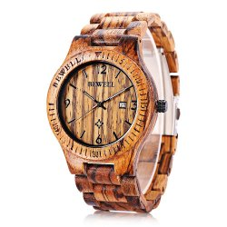 Bewell madera ecológica de lujo regalos hombre reloj de pulsera