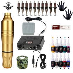 Полная Professional Tattoo Kit поворотный Tattoo машин пистолет комплектов для тела искусства