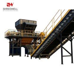 Serviço Pesado Triturador de metal de Reciclagem de Resíduos Carro/alumínio/Ferro