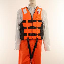 A flutuação EPE revestimento de espuma colete de segurança marítima refletivo colete salva vida Vest (JMC-431E)
