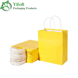 OEM Custom proveedor chino de la estraza marrón/blanco resistente bolsa de papel de embalaje/bolsas de papel artesanal bolso