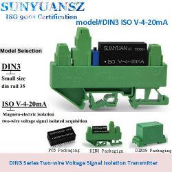 DIN Rail-Mounted 0-5 V|0-10V pour convertisseur alimenté par boucle 4-20 mA