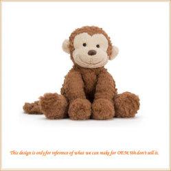 부드러운 속을 채운 긴더미의 고릴라 원숭이 동물원 아니아말 장난감 어린이