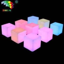 LED أثاث ضوء LED ضوء منضدة مكعب RGB LED ضوء مصباح المقعد الخارجي LED مكعب