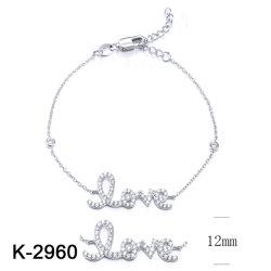 Joyería de Plata o Bronce CZ Stone Bracelet para mujeres