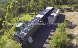 Qualidade superior grossista chineses Flat Pack Casa do recipiente com uma grade de Painéis Solares
