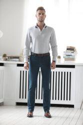 Gndz высокого класса индивидуальные Дизайн бизнес-мужчин джинсы