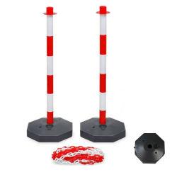 Пластиковая перегородка цепи Предупреждение Светоотражающая стойка делинеатора с заполненной водой База безопасности дорожного движения