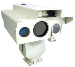 Capteur de multiples militaire Surveillance IP caméra à imagerie thermique avec HD Caméra de vision de nuit au laser et le télémètre laser