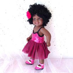 """子供のおもちゃアメリカの女の子の人形 18""""45cm 黒い女の子の人形 アリカンファッションドール"""